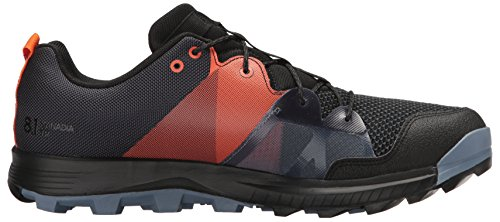 Adidas Outdoor Mens Kanadia 8.1 Scarpa Da Trail Running In Carbonio / Nero / Arancio