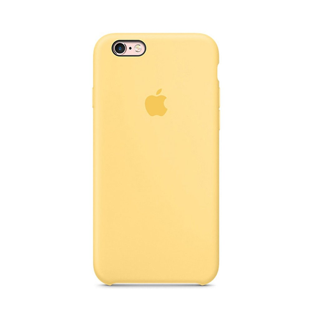 Optimal Shield Soft Leather Apple Silicone Case Cover For Apple I Phone 6 /6s (4.7inch) Boxed  Retail Packaging (Yellow) by Optimal Shield