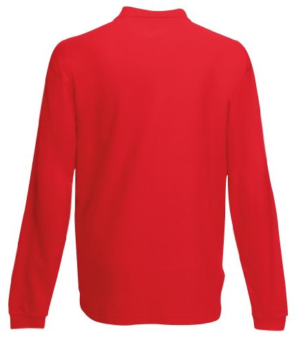 Rouge Pour Homme Fruit Polo The Longues À Manches Of Loom w0qgv0PzO