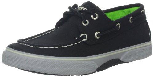 Sperry Top-Sider Halyard Boat Shoe (Little Kid/Big Kid),Black/Grey,4 M US Big Kid