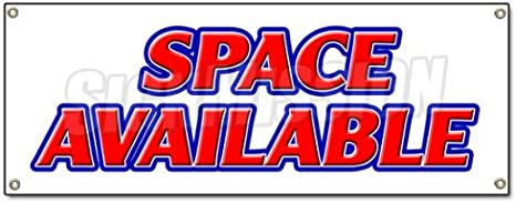 48x120 Space Available Banner Sign Retail Warehouse Storage Units Commercial