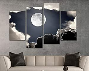 Wall Canvas printed of the moon