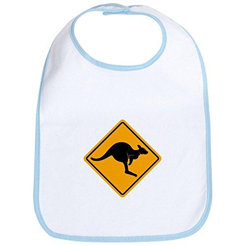 CafePress - Kangaroo Road Sign Bib - Cute Cloth Baby Bib, Toddler Bib ()