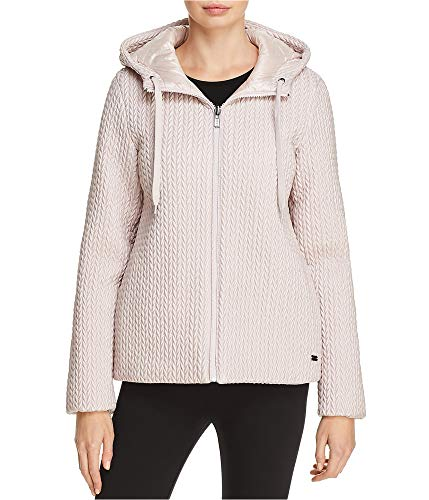 - DKNY Womens Reversible Puffer Jacket, Pink, Large