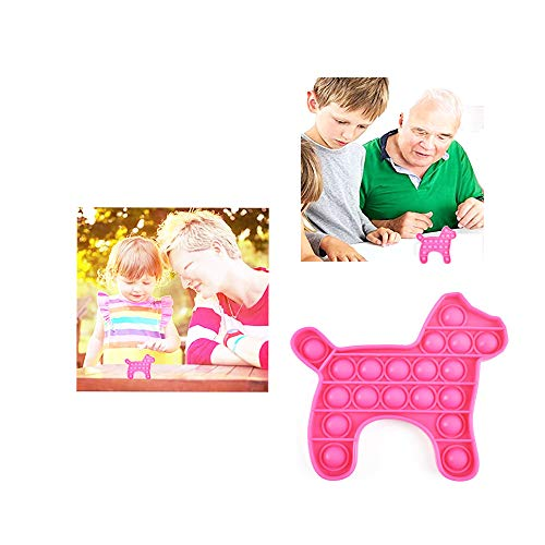 Finger Pressure Bubble Silicone Sensory Toy, Push Puzzle pop, Relieve Stress, for Kids Adults,Pony, 1 Pack