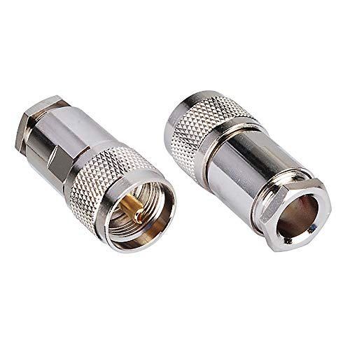 Bingfu UHF PL-259 Male Plug Clamp Solder Attachment 50 Ohm C
