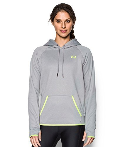 Under Armour UA Storm Armour Fleece Icon Hoodie - Women's True Grey Heather / Pale Moonlight/Pale Moonlight XS