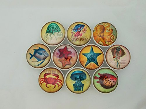 Set-of-10-Colorful-Sealife-Cabinet-Knobs