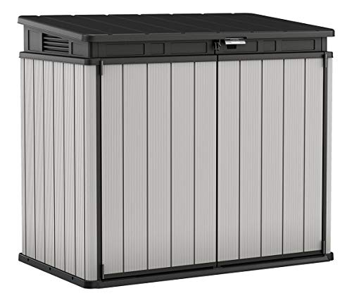 Keter 240790 Premier XL Outdoor Horizontal Storage Shed, Grey