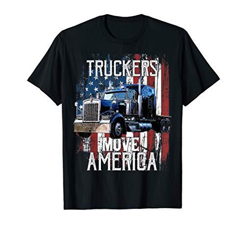 Trucker American Flag Truck Driver Shirt Truck Driver ()