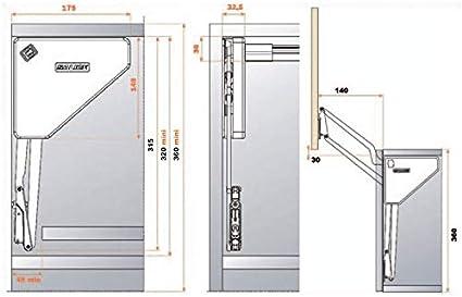 Herraje para puerta abatible vertical – Salice: Amazon.es: Bricolaje y herramientas