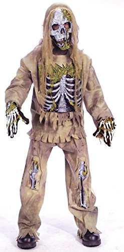 Fun World 31857 Skeleton Zombie Child Costume- Size 4-6