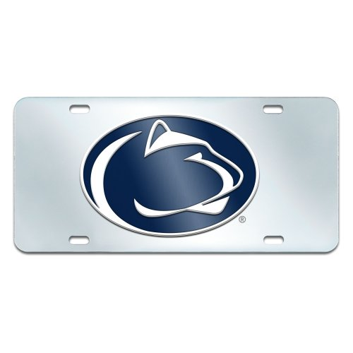 FANMATS NCAA Penn State Nittany Lions Plastic License Plate (Inlaid)