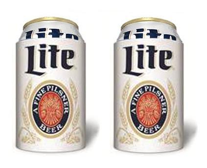 - Miller Lite Throwback a Fine Pilsner Beer Can Kaddy Coolie Huggie