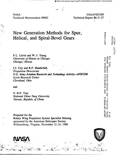 New generation methods for spur, helical, and spiral-bevel -