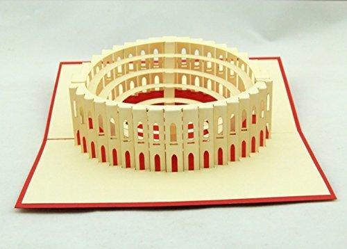 BC Worldwide Ltd Tarjeta pop-up 3D hecha a mano Italia Roma ...