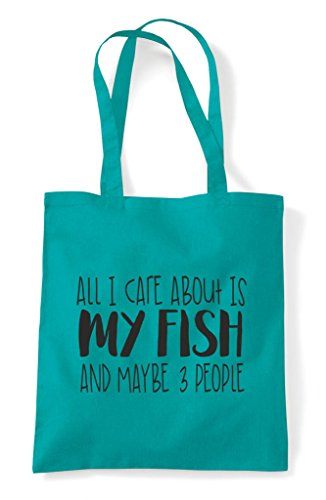 Themed Bag Tote Animal My And Emerald Maybe Care Shopper Three I Fish All About Is People Funny Cute 6wxOA7BqZ