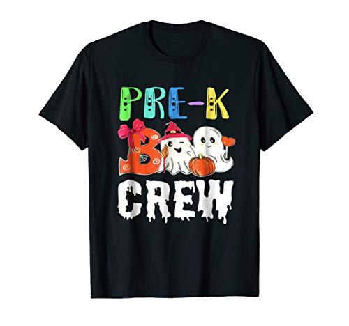 Halloween Pre-K Shirt Cute Boo Crew Teacher Kids Tee