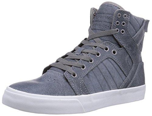 Supra Mens Skate Leren Schoenen Skytop Leisteen Blauw - Wit S18241 Medium (d, M) (7.5)