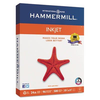 Hammermill White Inkjet Paper - Letter 8.5'' 24lb - - 96 - 500 Ream -