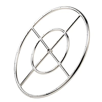 Stanbroil Round Fire Pit Burner Ring, 304 Series Stainless Steel