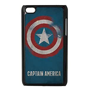 Captain Americ iPod Touch 4 Case Black Customized Toy pxf005_9725556