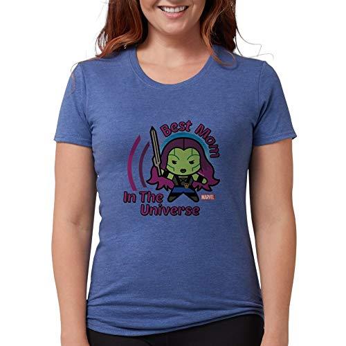 CafePress GOTG Best Mom Universe Womens Tri Blend T Shirt Womens Tri-Blend T-Shirt Heather Blue ()