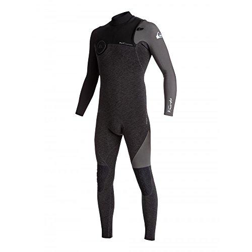 Quiksilver - Mens 3/2 Highline Series Zipless Fullsuit, Size: Small, Color: Heather Black/Black/Jet Blac