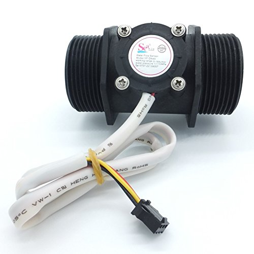 jdhlabstech Liquid Flow Sensor Water flowmeter 5 to 150 Liters/min for 1.5-inch Pipes (DN40)