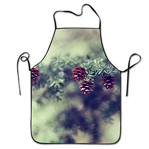 Lovely Pinecone Wallpaper Deluxe Aprons Personalized Printing Kitchen ()