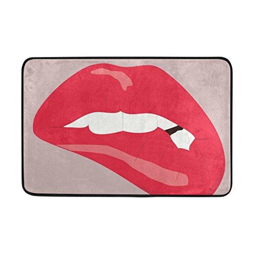 hengpai Lips Teeth Confusion Area Rug Doormat Living Room Barthroom Home Decor -