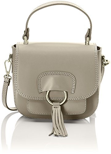 Chicca Borse 1524 - Bolso de mano Mujer Beige (Taupe Taupe)