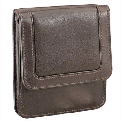 Cowhide Drum-Dyed Nappa Leather Wallet Color: Brown