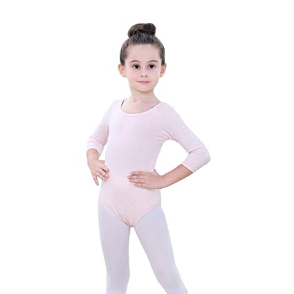 Freebily Maillot de Ballet Ni/ña Manga Larga Leotardo Gimnasia El/ástica Vestido de Danza Patinaje Cuello Halter Bodys Cl/ásico Fitness Ni/ñas