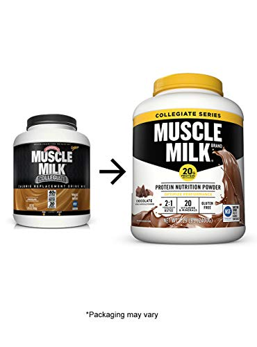 Muscle Milk Collegiate Protein Powder, Chocolate, 20g Protein, 5.29 Pound Pack May Vary