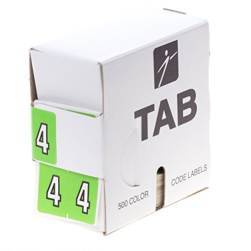 Filing Color Coded Numeric Labels - 5