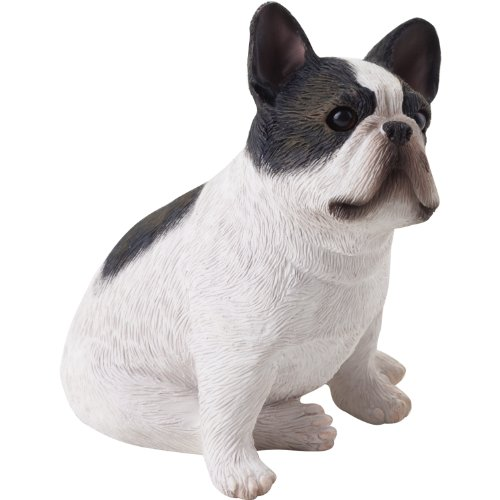Sandicast Small Size Brindle French Bulldog Sculpture, Sitting