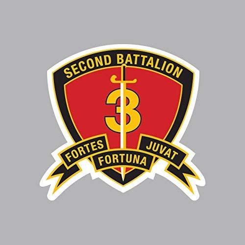 2nd Battalion 3rd Marine Regiment USMC Outline Sticker Vinyl Decal Sticker Made in - 3rd Marine