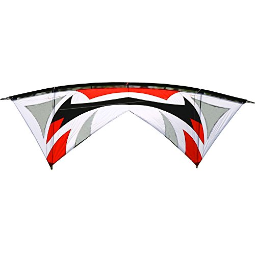 Hengda Kite Quad-line 7.9 Feet/2.4 Meter Stunt Kite with Dyneema Line + Quad Handle Package + Gauze Vent