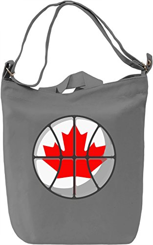 Canada Basketball Borsa Giornaliera Canvas Canvas Day Bag| 100% Premium Cotton Canvas| DTG Printing|