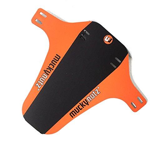 Mucky Nutz Bender Face Fender FR DH Mountain Bike Front Mudguard - Black/Orange 2016