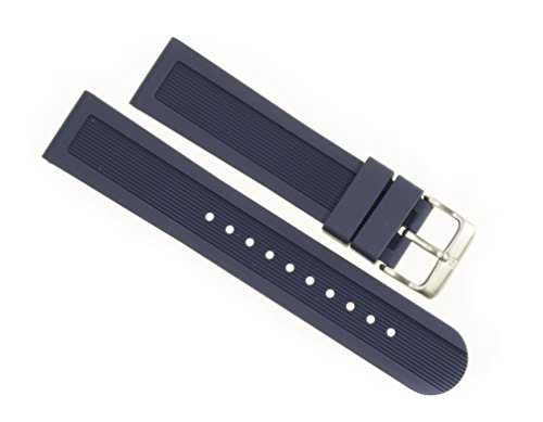 Victorinox Swiss Army Dive Master Navy Blue Genuine Rubber Strap Diver Watch Band (Rubber Strap Dive Watch)