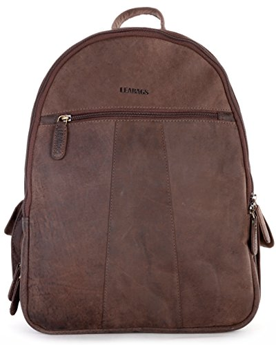 LEABAGS Newark genuine buffalo leather camera backpack in vintage style - Nutmeg by LEABAGS
