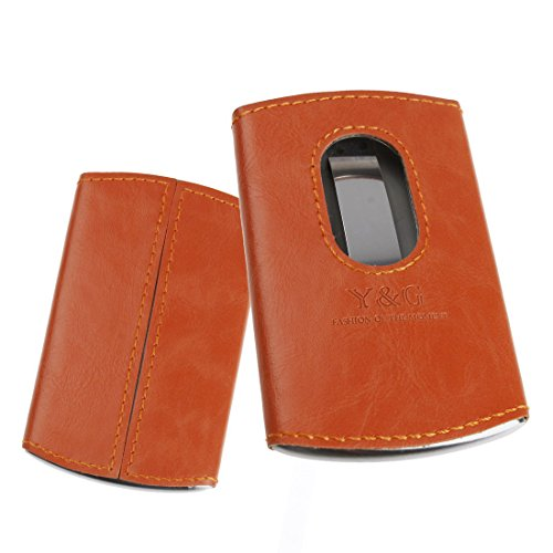 02. YDA01A Leather Stainl?ess Steel Card Holder with Gift Box Various Colors By Y&G
