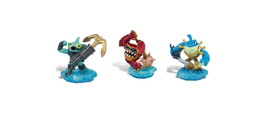 Skylanders Swap Force Action Figures Anchors Away Gill Grunt, Rip Tide, and Lightcore Wham Shell