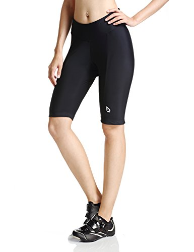 Baleaf Women's Cycling Padded Shorts Black UPF 50+ Size (Bike Shorts Women Spandex)