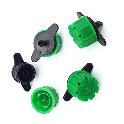 KORAM 140GPH Adjustable Big Drippers 8 Spray Hole Irrigation Sprinklers Emitter Non-Pressure Compensating Watering On 1/4