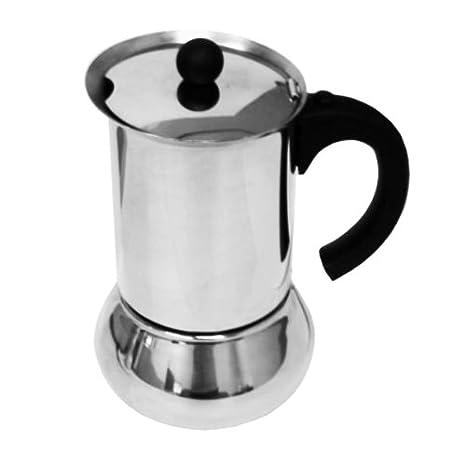 Amazon.com: vev vigano Carioca Nero 6 tazas cafetera de ...