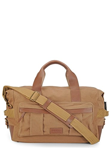 Phive Rivers Leather Duffle Bag/Weekender Bag (Khaki)