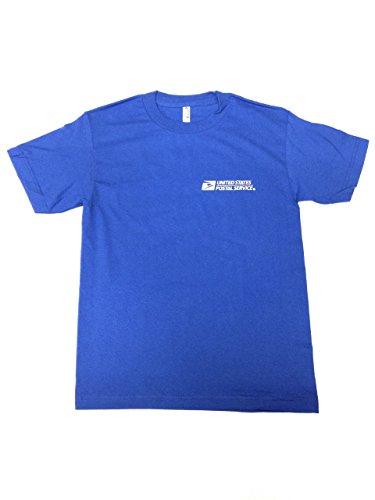 USPS New Post Office Royal Blue T-Shirt Postal Logo ON Front & Back